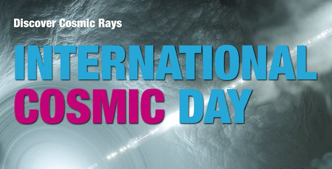 InternationalCosmicDay 2019